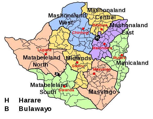 Embassy Of The Republic Of Zimbabwe - Republic of zimbabwe map